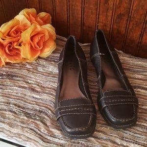 BCBG Paris ladies leather loafers